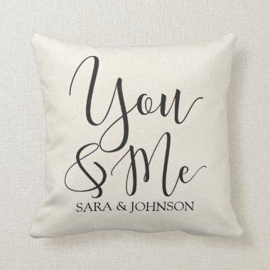 you and me personalized throw pillow