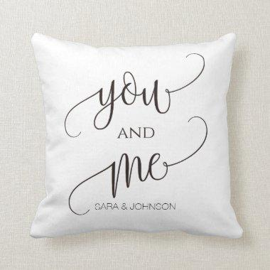 you and me, personalized wedding gift throw pillow