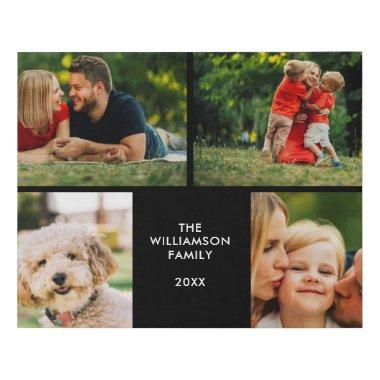 Your Four Favourite Family Photos Collage Faux Canvas Print
