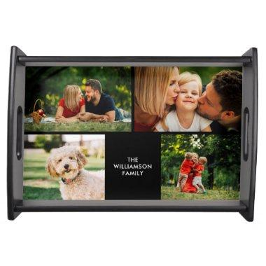 Your Four Favourite Family Photos Collage Serving Tray