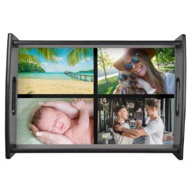 Your Four Favourite Photos Collage Serving Tray
