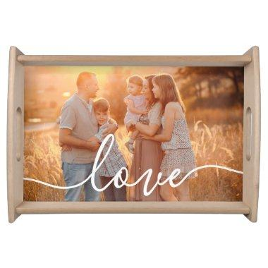 Your Photo Love Script Serving Tray
