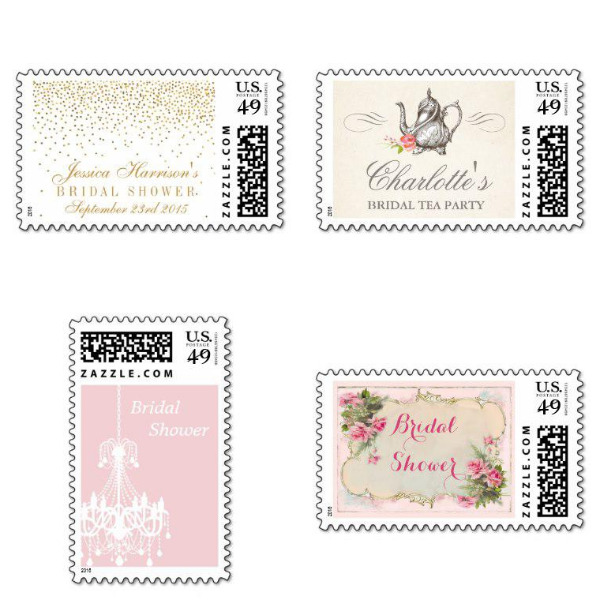 antique bridal shower stamps
