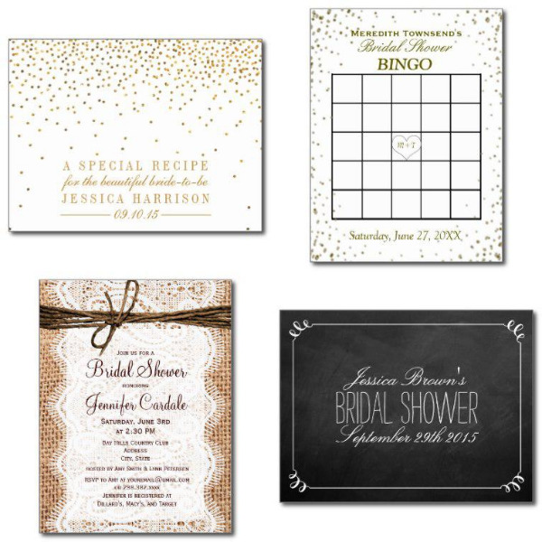 Basic Bridal Shower Invitations
