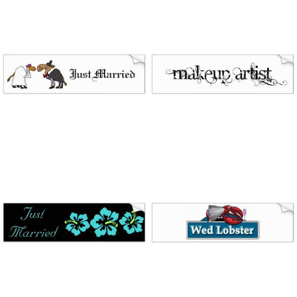 Bridal Shower Bumper Stickers