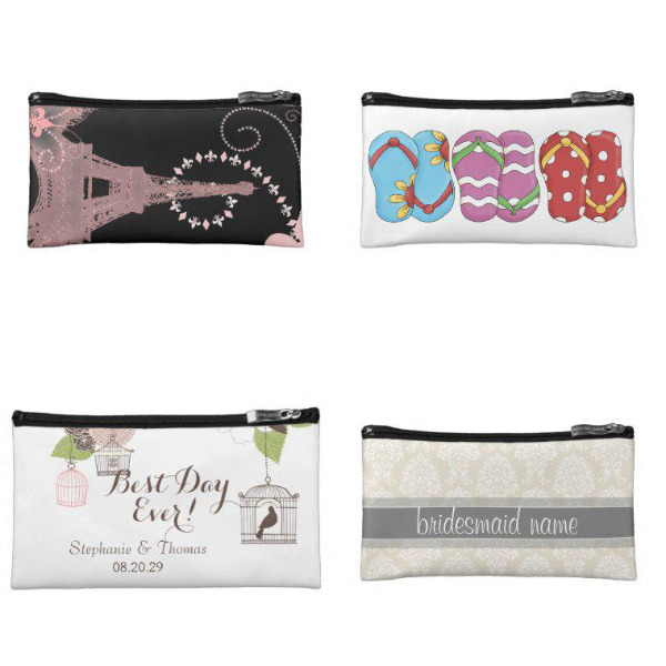 Bridal Shower Cosmetic Bags