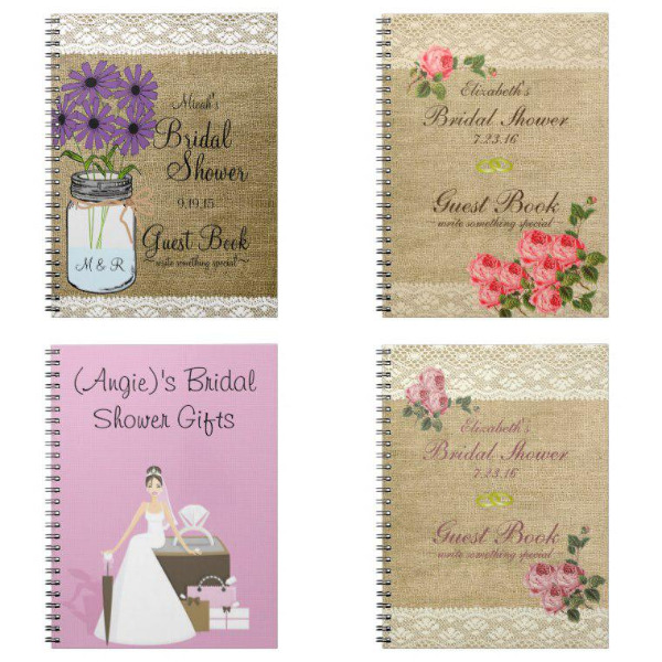 Bridal Shower Notebooks
