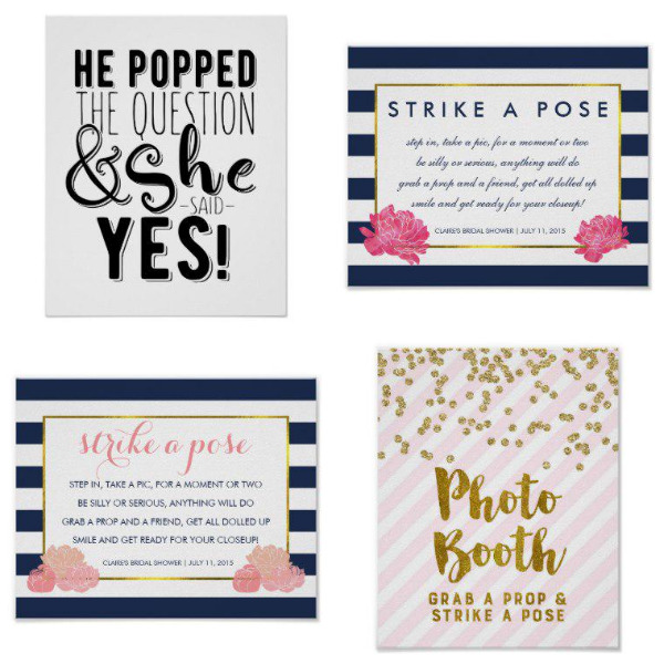 Bridal Shower Posters