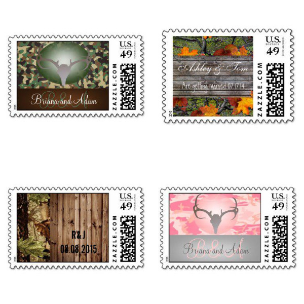Camo Bridal Shower Stamps