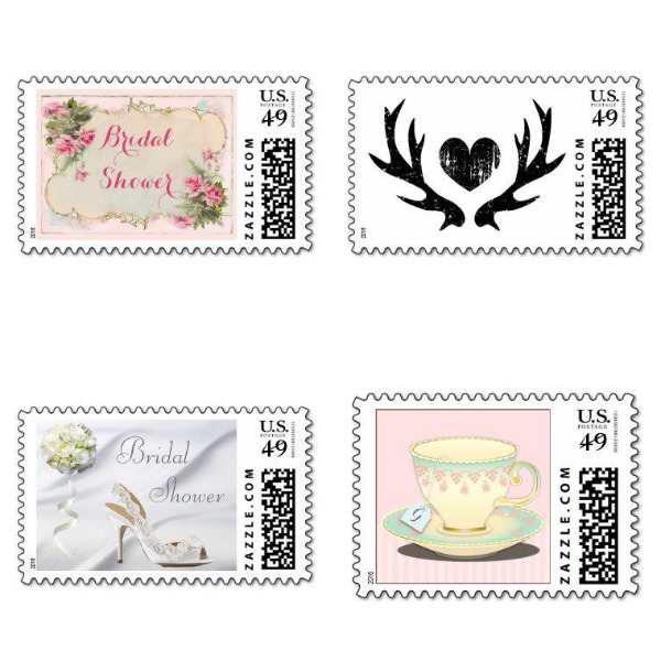 Chic Bridal Shower Stamps