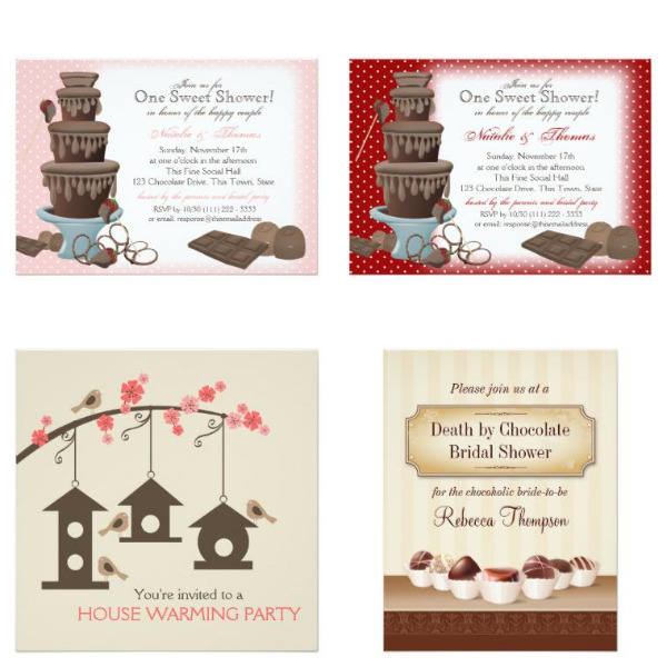 Chocolate Bridal Shower Invitations