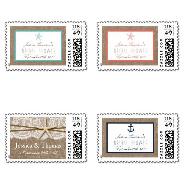 Exotic Bridal Shower Stamps