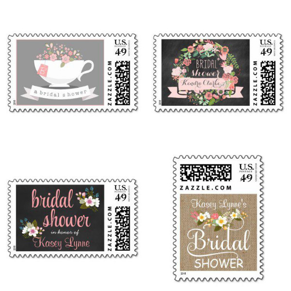 Floral Bridal Shower Stamps