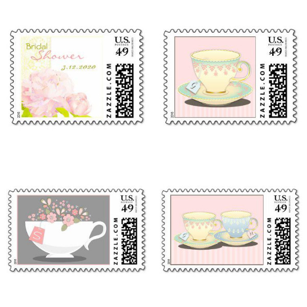Garden Bridal Shower Stamps