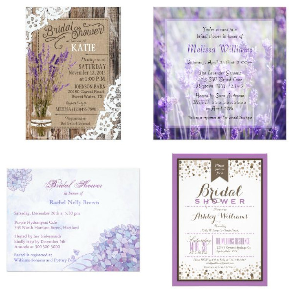 Lavender Bridal Shower Invitations