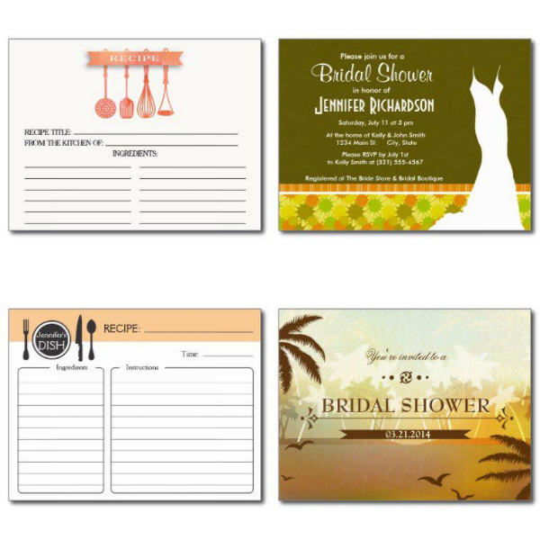 Orange Bridal Shower Invitations