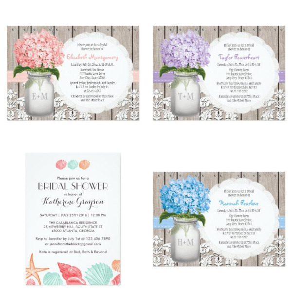 Pattern Bridal Shower Invitations