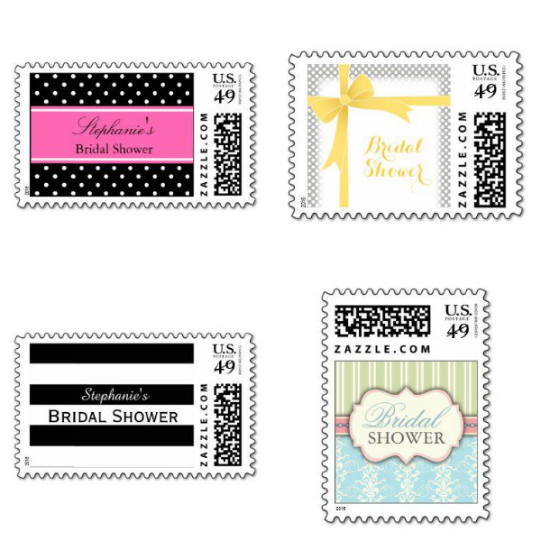 Pattern Bridal Shower Stamps