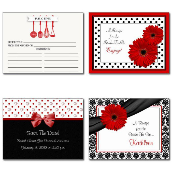 Red Bridal Shower Invitations