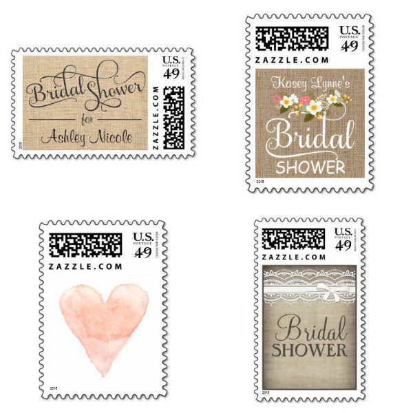 Rustic Bridal Shower Stamps