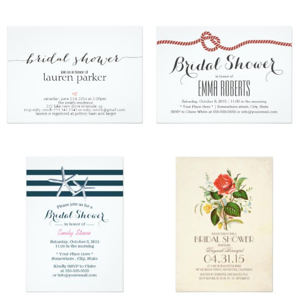 Simple Bridal Shower Invitations
