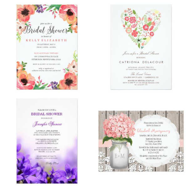Spring Bridal Shower Invitations