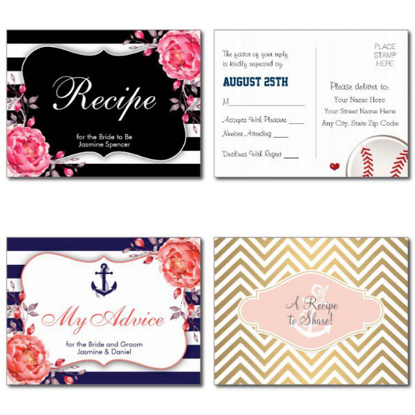 Striped Bridal Shower Invitations