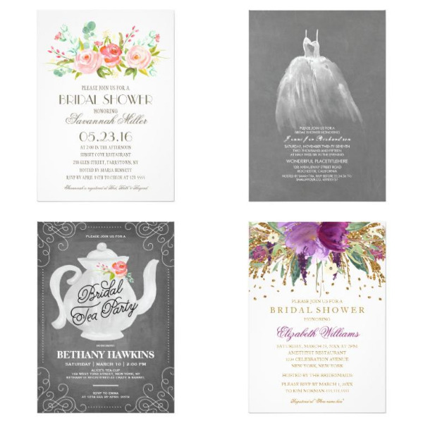 Trendy Bridal Shower Invitations