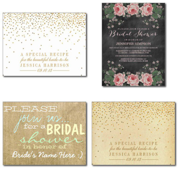 Vintage Bridal Shower Invitations