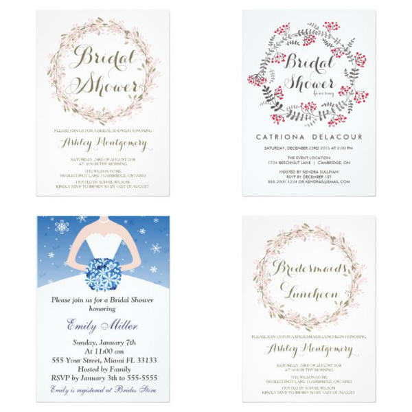 Premium bridal shower invitations unique bridal shower winter bridal shower invitations filmwisefo